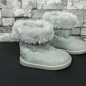 Disney Girls Frozen Faux Fur/Suede Boots